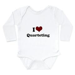 i heart quarteting.png Long Sleeve Infant Bodysuit