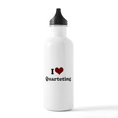 i heart quarteting.png Water Bottle