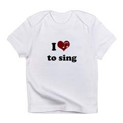 i heart to sing.png Infant T-Shirt