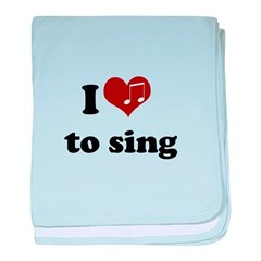 i heart to sing.png baby blanket