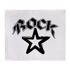 rock star2.png Throw Blanket