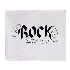 rock star.png Throw Blanket