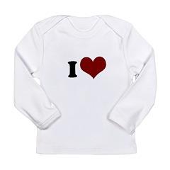 i heart heart.png Long Sleeve Infant T-Shirt