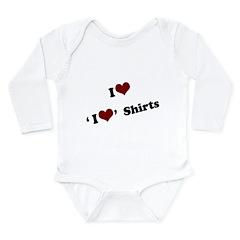 i heart heart.png Long Sleeve Infant Bodysuit