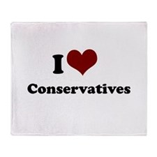 i heart liberals.png Throw Blanket