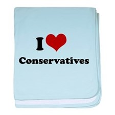 i heart liberals.png baby blanket