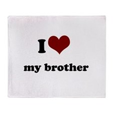 i heart my sister.png Throw Blanket