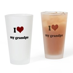 i heart my grandpa.png Drinking Glass