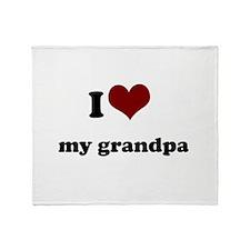 i heart my grandpa.png Throw Blanket