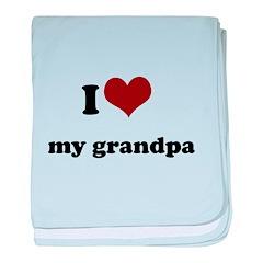 i heart my grandpa.png baby blanket