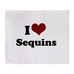 i heart sequins.png Throw Blanket