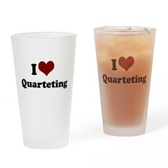 i heart quarteting.png Drinking Glass