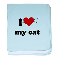i heart my cat.png baby blanket