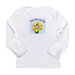 happy spring framed.png Long Sleeve Infant T-Shirt