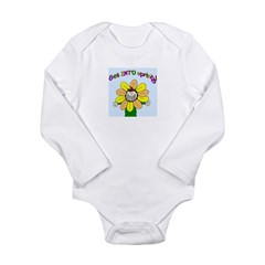 happy spring framed.png Long Sleeve Infant Bodysui