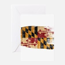 Maryland Flag Greeting Card