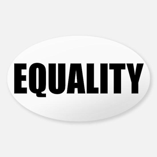 EQUALITY Sticker (Oval)
