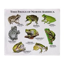 Tree Frogs of North America Throw Blanket