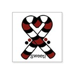 Candycanes Square Sticker 3