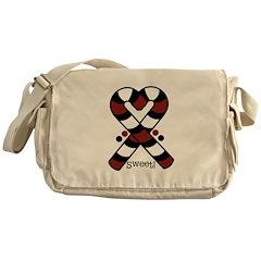 Candycanes Messenger Bag