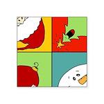 christmas fun Square Sticker 3