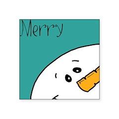 xmas merry Square Sticker 3