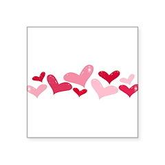 hearts Square Sticker 3