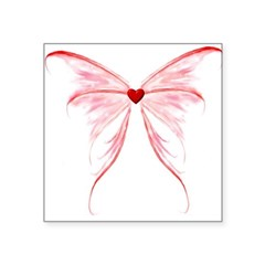 winged heart Square Sticker 3