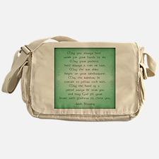irish blessing (sq) Messenger Bag