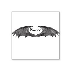 batty Square Sticker 3