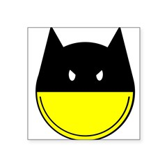 bat smiley Square Sticker 3