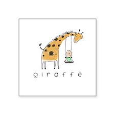 giraffe Square Sticker 3