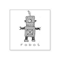 Robot Square Sticker 3