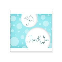 "thank you Square Sticker 3"" x 3"""
