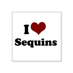 i heart sequins.png Square Sticker 3