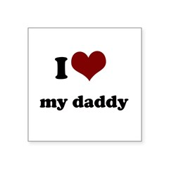 i heart my mommy.png Square Sticker 3