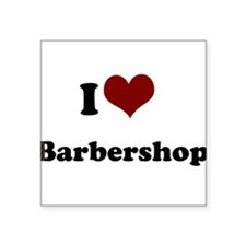 """iheart barbershop.png Square Sticker 3"""" x 3"""""""