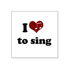 i heart to sing.png Square Sticker 3