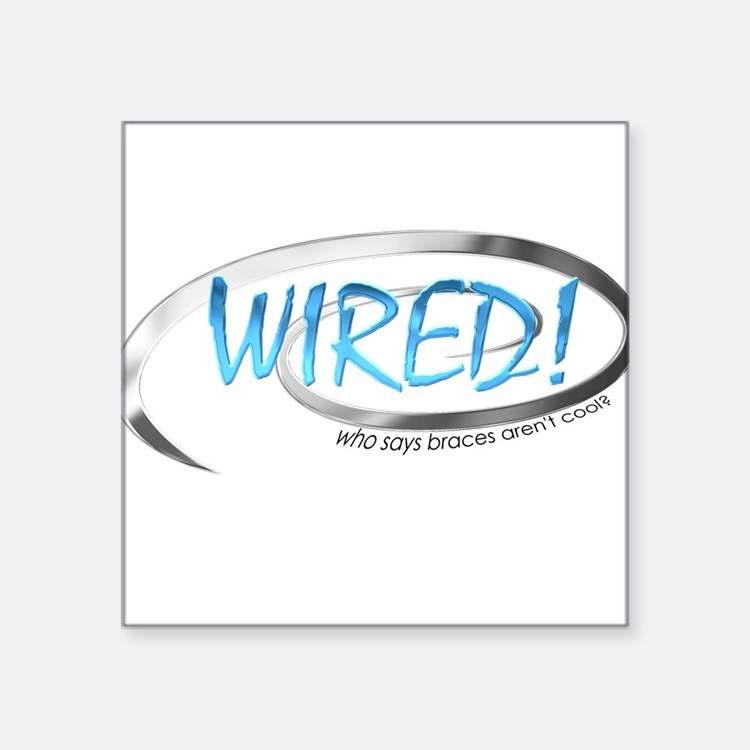 "wired_sq1.png Square Sticker 3"" x 3"""