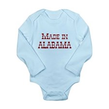 Made In Alabama Long Sleeve Infant Bodysuit