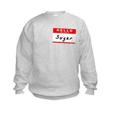 Sugar, Name Tag Sticker Sweatshirt