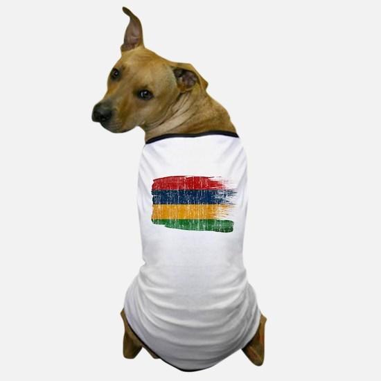 Mauritius Flag Dog T-Shirt