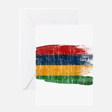 Mauritius Flag Greeting Card