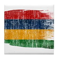 Mauritius Flag Tile Coaster