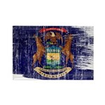 Michigan Flag Rectangle Magnet (100 pack)