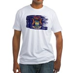 Michigan Flag Fitted T-Shirt