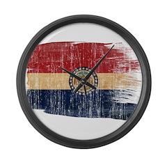 Missouri Flag Large Wall Clock