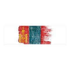 Mongolia Flag 42x14 Wall Peel