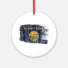 Montana Flag Ornament (Round)