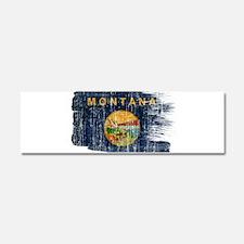 Montana Flag Car Magnet 10 x 3